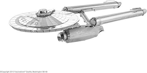 Fascinations Metal Earth MMS280 - 502670, Star Trek NCC-1701 USS Enterprise, Konstruktionsspielzeug, 2 Metallplatinen, ab 14 Jahren