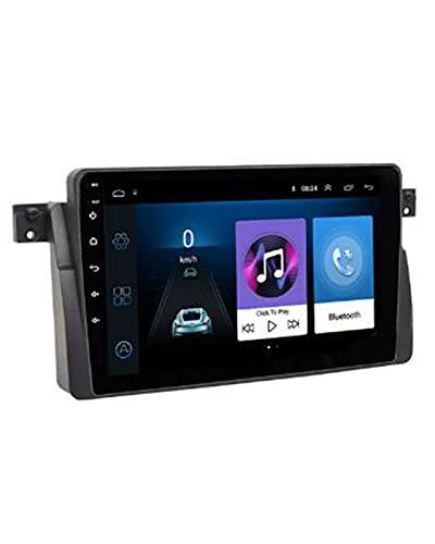 ACD Coche 9,0 2GB RAM Radio de Coche Reproductor de vídeo Multimedia Fit For BMW E46 M3 Rover 75 Coupe 318/320/325/330/335(Color:UI1-MIC)