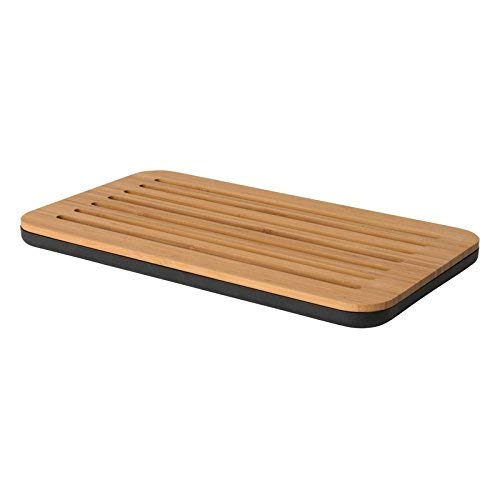 BergHOFF Multi-Use Double-Sided Bamboo and Polyprop Cutting Board with Crumb Tray 38x22cm, Brown, 38.5 x 22.5 x 2.5 cm