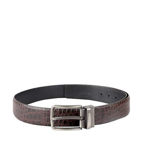 Hidesign Men's Leather Belt (Emmanuel_Brown_X-Large)