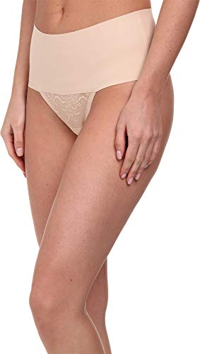 SPANX Undie-Tectable Lace Thong Soft Nude XL