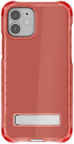 Ghostek Covert Clear Diseñado para iPhone 12 y iPhone 12 Pro Case Metal Stand Compatible con MagSafe y funda de silicona de carga inalámbrica 2020 iPhone12 5G y iPhone 12Pro 5G (6.1 pulgadas) (rosa)