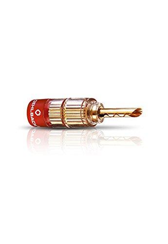 Oehlbach Solution Tube - Erstklassige Tube-Verbinder für Kabel bis 6mm² - rot/schwarz Kennzeichnung, Crimp-System - 4 Stück - Gold