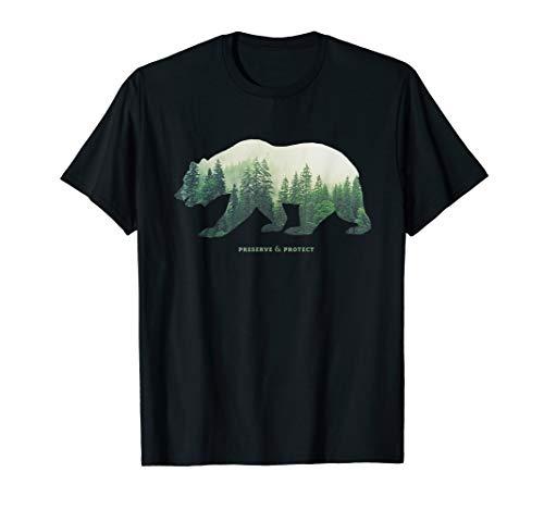 Preserve & Protect Umweltschutz Klimaschutz Rettung Erde Bär T-Shirt