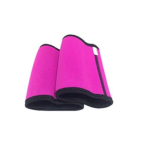 Healifty Kompression Arm Ärmel Arm Schlanker Armformer Elastische Armstulpe Armbandage für Frauen Damen Mädchen Sport Fitness Arm Gewichtsverlust - Größe S (Rosig)
