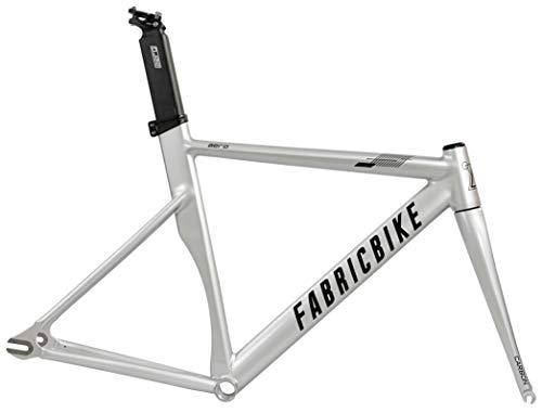 FabricBike Aero - Telaio per Biciclette Fixie, Fixed Gear, Single Speed, Telaio in Alluminio y Forcella in Carbonio, 5 Colori, 2.145 g (Taglia M) (Space Grey & Black, M-54cm)