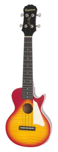 Epiphone Les Paul Acoustic/Electric Ukulele Outfit (Heritage Cherry Burst)