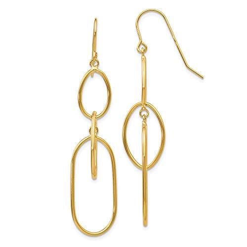 Ohrringe hängend Draht 14ct 3 Etagen - JewelryWeb