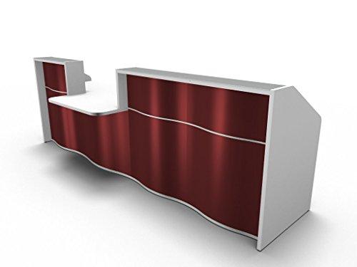Ontvangstbar SINNI luv31, reception in wit, oranje, groen en rood, ontvangststrepen, kantoortheke