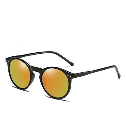 MissLi Gafas De Sol Polarizadas para Hombre Y Mujer, Diseñador De Marca, Gafas De Sol Redondas Retro, Gafas De Sol Vintage para Hombre Y Mujer, UV400 (Color : 6)