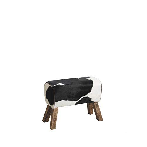 Inconnu Aubry Gaspard NTB 1620 C - Sgabello in pelle di mucca e legno