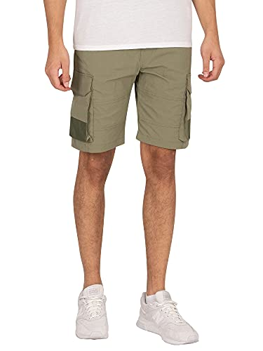 JACK & JONES JJIROSS JJCARGO Shorts Pantaloncini, Verde-Deep Lichen Green, XXL Uomo