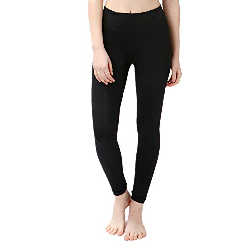 WY1688 Seamless - Figure-Shaping Tight for Fitness Gym Yoga Training & Leisure   Sports Pants - Workout Training Pants - Tights Running Pants A-Black M