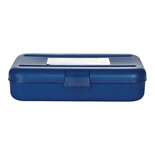 Staples 472595 Pencil Box Translucent Blue