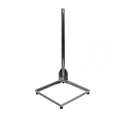 PremiumX Balkonständer Alu 50x50cm mit 1m Mast Ø 50mm Eckmast 50 x 50 Tersassenständer Flachdachständer Halterung