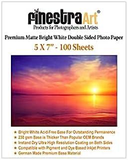 "$37 » 5"" X 7"" Premium Matte Bright White Inkjet Double Sided Photo Paper - 100 Sheets"