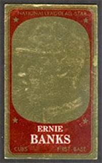 1965 Topps Embossed (Baseball) Card# 58 Ernie Banks of the Chicago Cubs VG Condition