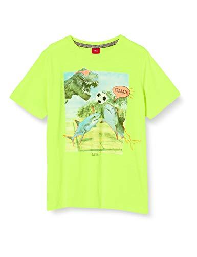 s.Oliver Junior Jungen 404.10.005.12.130.2038411 T-Shirt, 0071 neon Yellow, 128/134/REG