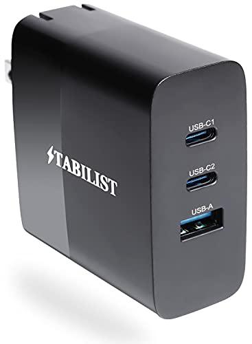 PD 充電器 USB Type-C 65W 3ポート GaN 折畳 PSE認証済 急速 PD3.0対応 USB-A USB-C 窒化ガリウム acアダプター パソコン 黒