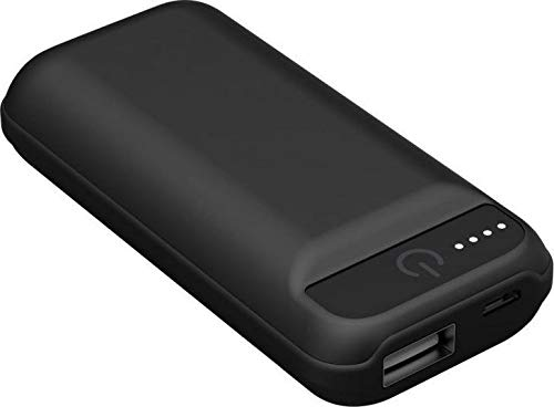IconBit FT-0050G powerbank met 5.000 mAh, zaklamp, compact design, zwart