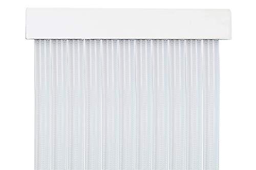 MERCURY TEXTIL Cortina para Puerta Tiras PVC 210x90cm,Cortina para Puerta Exterior (Transparente)