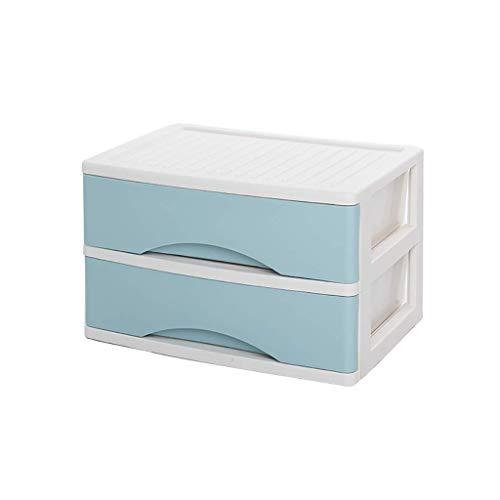 HYY-YY 2 Capas de cajón Organizadores y divisores for el Dormitorio, Oficina plástico cajones cajón multifunción Estilo Acabado Marco Dresser cosmética Periódico Bastidores (Color: A1)