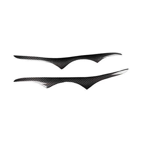 Preisvergleich Produktbild Carbon Fiber Scheinwerfer Augenbrauenaufkleber Carbon-Faser-Frontscheinwerfer Augenlid Eyelids Augenbrauen Abdeckung Trim dekorative Aufkleber for BEW 2006-2012 E92 / E93 3er E92 M3 ( Type : Type2 )