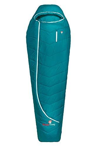 Grüezi-Bag Synpod Island 185 Leichter Schlafsack, für Körpergröße bis 185 cm, Mikrofaser-Füllung, 1050g, 215x80x50 cm, Packmaß Ø 18x22 cm