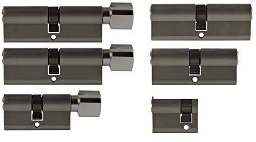 Set6 6x Zylinderschloss gleichschließend verschiedene Größen 1x40mm 1x70mm 1x90mm/1x70mm 2x90mm mit Knauf inkl. 10x Schlüssel
