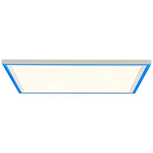 BRILLIANT lámpara Lanette LED panel de techo 60x60cm blanco  1x 38W LED integrado, (3830lm, 2700-6500K)  Escala A ++ a E  Luz de marco RGB para iluminación de acento colorida