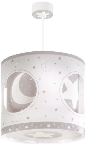 Dalber 63234E Mond und Sterne Solar Drehbare Hängelampe, Plastik, grau, 26.5 x 26.5 x 25 cm