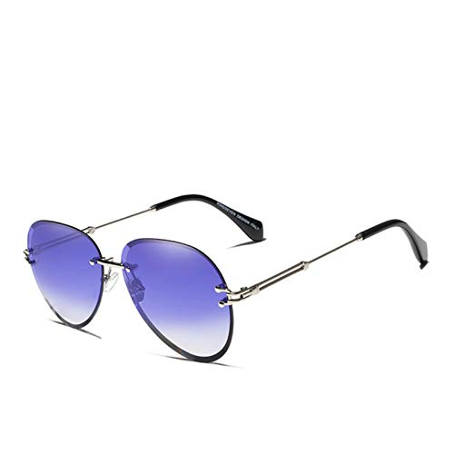 FFSMCQ Vintage Moda Gafas de sol Gafas de sol Rimless Sunglasses Degradient Lens Designer