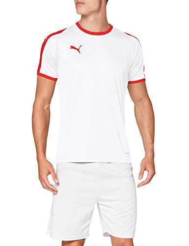 PUMA Liga Jersey T-Shirt, Hombre, White Red, S