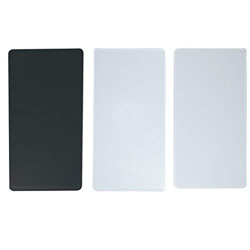 Vaessen Creative 2137-045 Ersatzplatten Prägen mit der Cut Easy Mini Stanz-und Prägemaschine, Set mit 1 Grundplatte B, 1 Stanzplatte C und 1 Prägeplatte E, verschieden, 16,5 x 7,5 cm