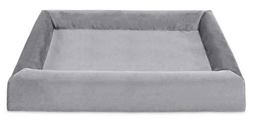 Bia bed royal fluweel overtrek hondenmand grijs BIA-100 120X100X15 CM
