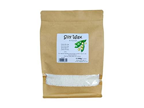 Cera de soja para velas ecológicas y cosmética natural 1100g en copos.
