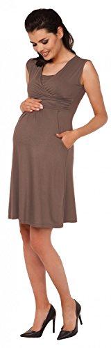 Zeta Ville – Damen Still Kleid Diskretes Stillen Skaterkleid Schwangere – 500c (Cappuccino) - 6