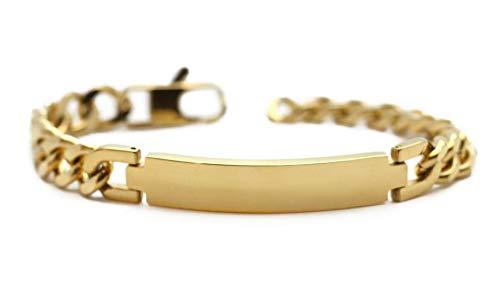 MyOwnName goldenes Herrenarmband mit gratis Gravur | Edelstahlarmband Gold