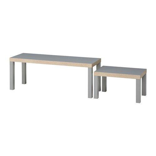 IKEA Lack Satztische in grau; 2 Stück