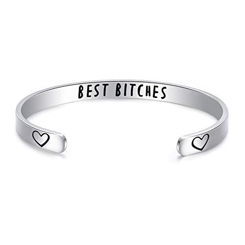 LParkin Best Bitches Bracelet Friendship Bracelets Gifts For Women Best Friend Gifts (Bracelet)