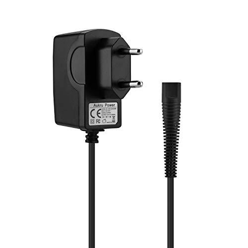 Aukru 12V 0.4A Elektrorasiere Ladegerät Netzteil für der Braun rasierer ladegerät Serie 1, Serie 3, Serie 5, Serie 7 Serie 9 für Braun Beard und Head Cruzer, CoolTec Models ladekabel