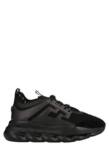 Luxury Fashion | Versace Heren DSU7071ED7CTGD41M Zwart Polyester Sneakers | Seizoen Permanent