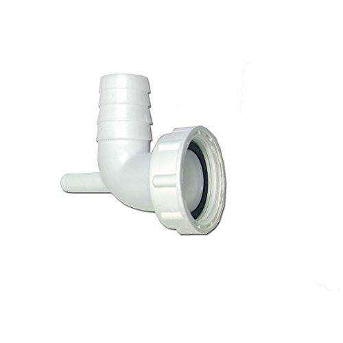 """Raccordo per tubo, sifone flessibile da 1"""", 90°, per lavatrici e lavastoviglie"""