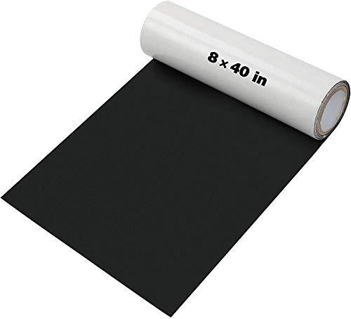 Baffsan Lederreparatur-Patch-Kits für Autositze, Sofas und Selbstklebender Ellbogen-Patch für Leder-und Vinylreparaturen, 8 x 40-Zoll-Ledersofa-Reparatursätze- Schwarz