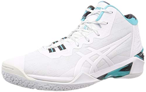 ASICS Unisex Adult White Basketball Shoes-10 UK (45 EU) (11 US) (1061A018)