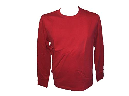 Jerzees Sweat-Shirt à col Rond en Coton Bleu/Rouge/Gris Taille S - Rouge - Large