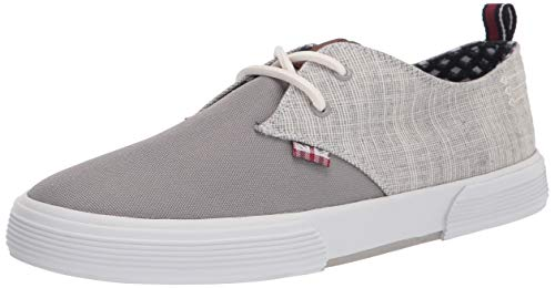Ben Sherman Bradford Oxford Sneaker pour homme, Gris (Textile gris clair.), 41 EU