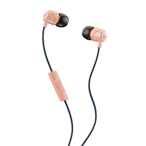 Skullcandy Jib in-Ear Noise-Isolating Earbuds with Microphone and Remote for Hands-Free Calls, Lightweight, Stereo Sound and Enhanced Base, Wired 3.5mm Jack, Sunset/Black