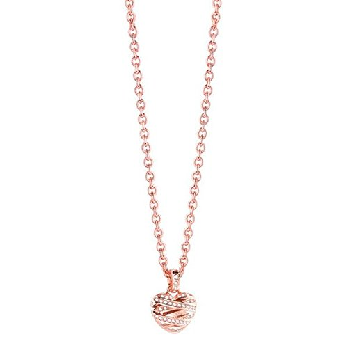 Guess Damen-Kette mit Anhänger Wrapped with Love Halskette Edelstahl Kristall weiß 42 cm-UBN21610