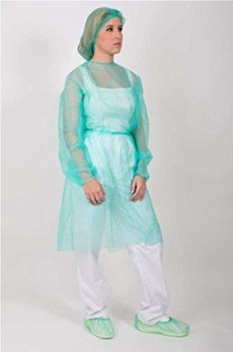 Vestaglia / Camice protezione medico monouso. Pack 10 Ud. Verde con chiusura posteriore con fasce